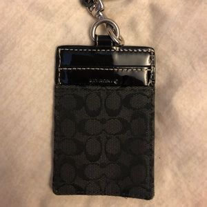 Coach lanyard with small ID wallet